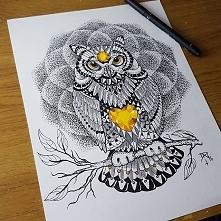 Niesamowity rysunek zentangle