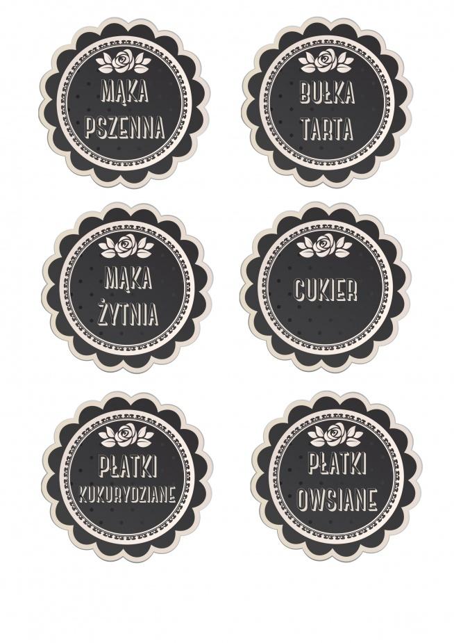 Etykietki na pojemniki kuchenne W razie czego mogę spersonalizować :) ewuu01@gmail.com