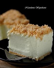 Ciasto Śnieżny puch   Składniki: (na blaszkę 24x24 cm)   Spód: ok. 200 g herb...