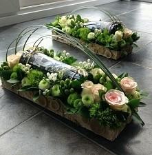 wino w kwiatach- podziękowanie, prezenty w PerfectWedding.com.pl