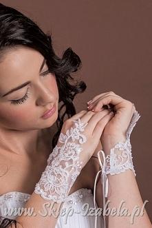 rękawiczki ślubne koronkowe