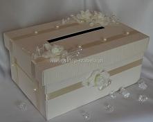 pudełko na koperty i kartki ślubne z życzeniami