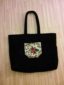 Mega duża torba z delikatnym motywem folkowym :)