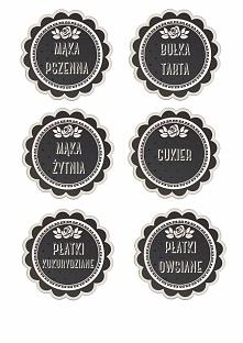 Etykietki na pojemniki kuch...