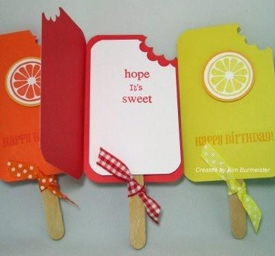 świetny pomysł na kartkę urodzinową :-)