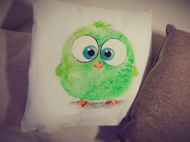 RĘCZNIE MALOWANA poduszka dekoracyjna:)