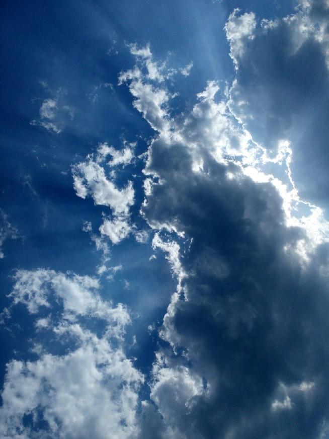 a takie niebo nad moim domkiem. Bez foto montażu i filtrów. ^^