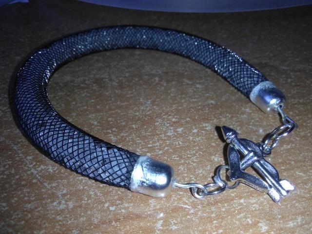 Bransoletka z nylonowej siatki