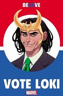 Komiks Vote Loki #1 pojawi się w sklepach 15 czerwca. Loki na prezydenta. ;)