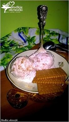 Ciasteczkowe lody domowe. Przepis na lody bez maszynki, bez jajek. Przepis po kliknięciu w zdjęcie