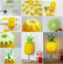 lampa diy w kształcie ananasa