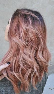 Golden Rose - różowe złoto Przepiękne włosy