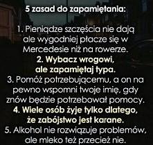 5 zasad do zapamiętania ;3