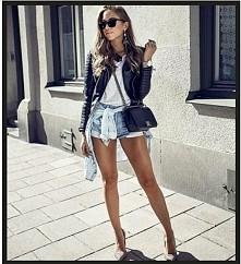 sposób na jeansowe spodenki ❤