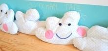 Uszyj poduszkę w kształcie chmurki! Jest idealna do pokoju dziecka. Zapraszamy po tutorial na bloga :)