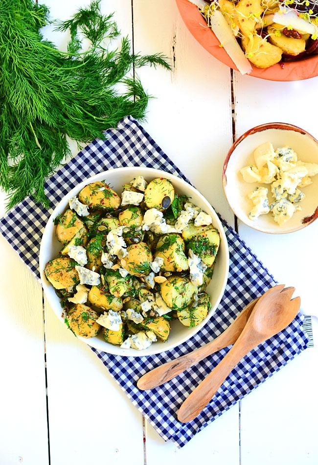 Sałatka z młodych ziemniaków i koperku, idealna do dań z grilla