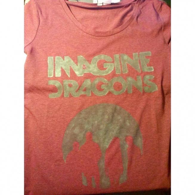 """Koszulka, wykonana własnoręcznie, zespołu Imagine Dragons Koszulki można zamawiać na facebooku """"Koszulki z własnym wzorem na zamówienie"""""""