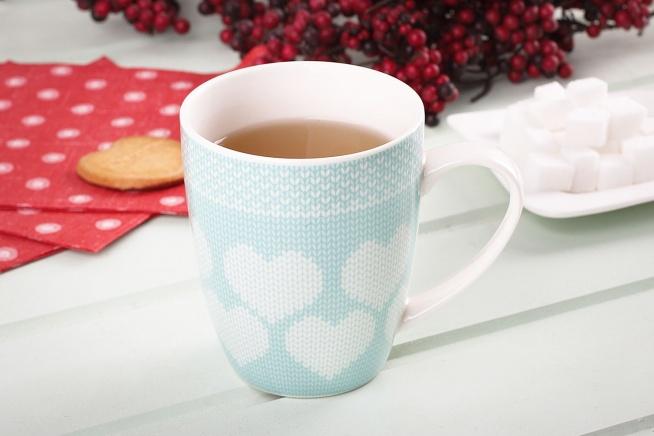 Kubek ceramiczny MIĘTOWY SWETEREK 330 ml