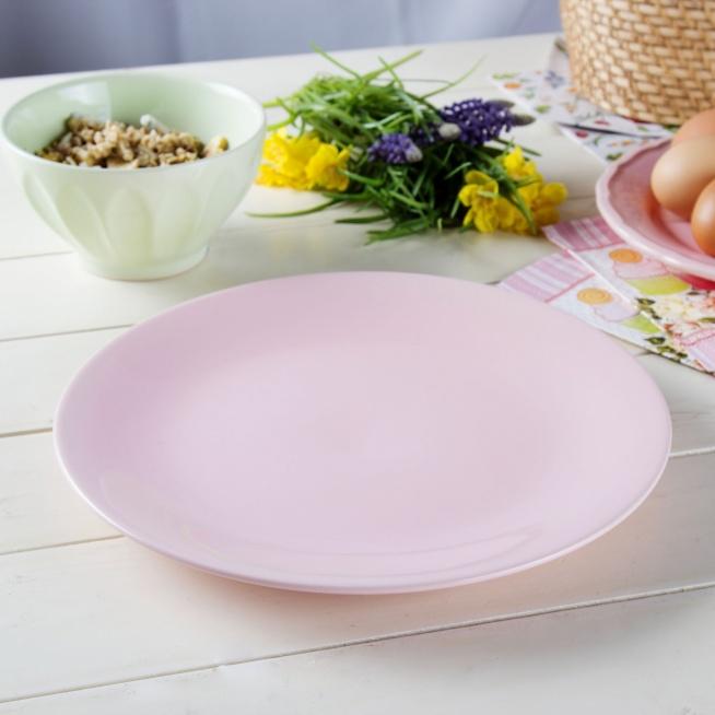 Ceramiczny talerz płytki AFFEK DESIGN SENCILLO RÓŻOWY 25,5 cm