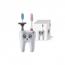 Sympatyczny ząbek na szczoteczki sprawi że dzieci chętniej będą myć zęby.