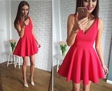 sukienka z koła z dłuższym tyłem, na tiulu, malinowy Illuminate <3 <3 &...