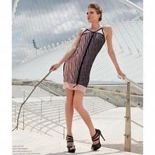 Szyfonowa sukienka- halka, dostępna w butiku Łatka fashion.