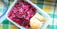 Sałatka z kaszą bulgur, botwinką i rzodkiewką + pieczona pierś z kurczaka (pr...
