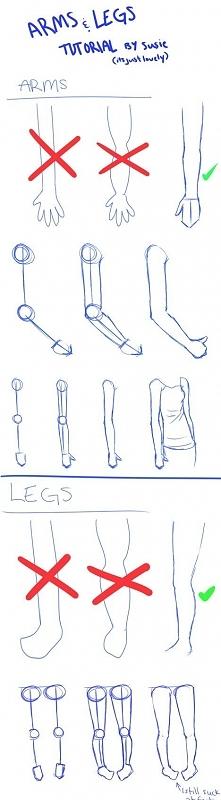 jak narysować ręce, nogi