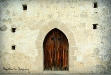 Drzwi starego kościoła we wsi Pyrgos/Cypr.
