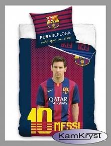 I jeszcze jeden wzór pościeli z Leo Messim FC Barcelona - 160x200 cm 100% bawełna