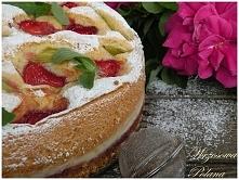 Tort z truskawkami, białą c...