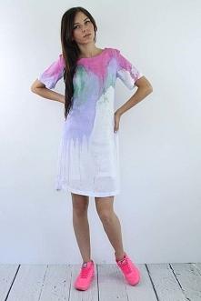 Ręcznie malowana sukienka od Kalos Kagathos