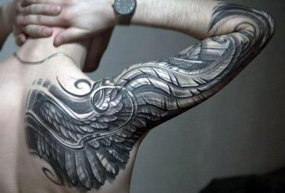 Tatuaże Męskie Na Ręce Skrzydło Na Tatuaże Zszywkapl