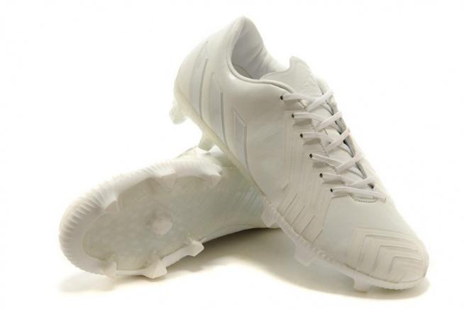 adidas predator instinct fg tpu leather all white football boots uk sale