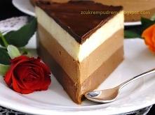 Sernik na zimno z trzema czekoladami - KLIK