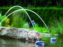 Podświetlane strumienie wodne
