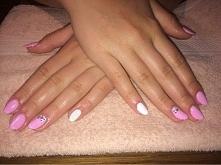 różowo biała hybryda ze Swarovskim :)