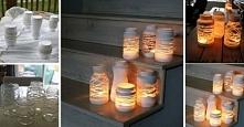PIĘKNE OGRODOWE LAMPIONY ZE ZWYKŁYCH SŁOIKÓW - POTRZEBUJESZ TYLKO SZNURKA I B...