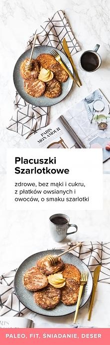 Przepis na rewelacyjne Placuszki Szarlotkowe. Bez mąki i cukru, z płatków ows...