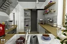 Projekt gotowy Szczęśliwa to nowoczesna propozycja domku taniego i ekonomicznego. Propozycja wizualizacji kuchni.