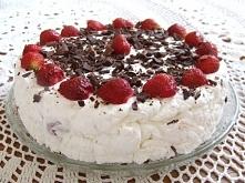 Tort lodowy z truskawkami, przepis mega prosty :)  Po przepis klikamy w fotkę :)