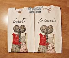 Koszuli BEST FRIENDS - dziewczynki warkocz - modne bluzki dla przyjaciółek - koszulki dla przyjaciółki - super pomysł na prezent. Modne damskie koszulki dla dziewczyn - blogersk...