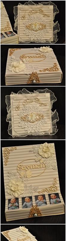 kartka w pudełku... chrzest Szymka
