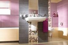 Cukierkowa łazienka - róż, fiolet, szarość