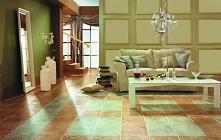 Włoski salon - beżowo-zielona kompozycja