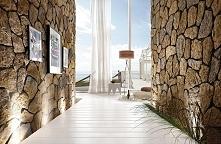 Kamień w hallu - wprowadza ciepły klimat