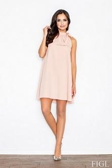Trapezowa sukienka w odcien...