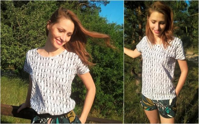 Ręcznie malowana koszulka, tył i przód; 100% bawełna; Na zamówienie, zapraszam ;) -->Klik w zdjęcie