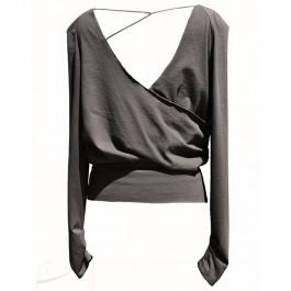 Dzersejowy top bez pleców, do zamówienia w butiku Łatka fashion