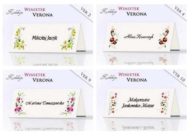 Ach... Werona! :)  Winietki z kolekcji Verona na pewno znalazły by się na przyjęciu weselnym Julii i Romea :).